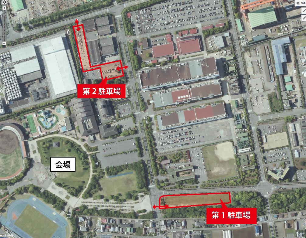 駐車場マップ ストハン会場 公式駐車場案内図